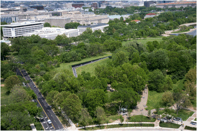 Maya Lin, 'The Vietnam Veterans Memorial', ariel view 1982, Washington, DC
