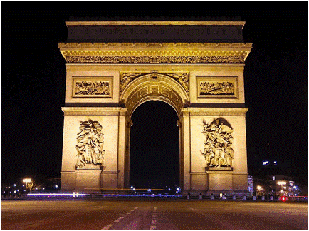 'Arc de Triomphe', inaugurated 1836, Paris France