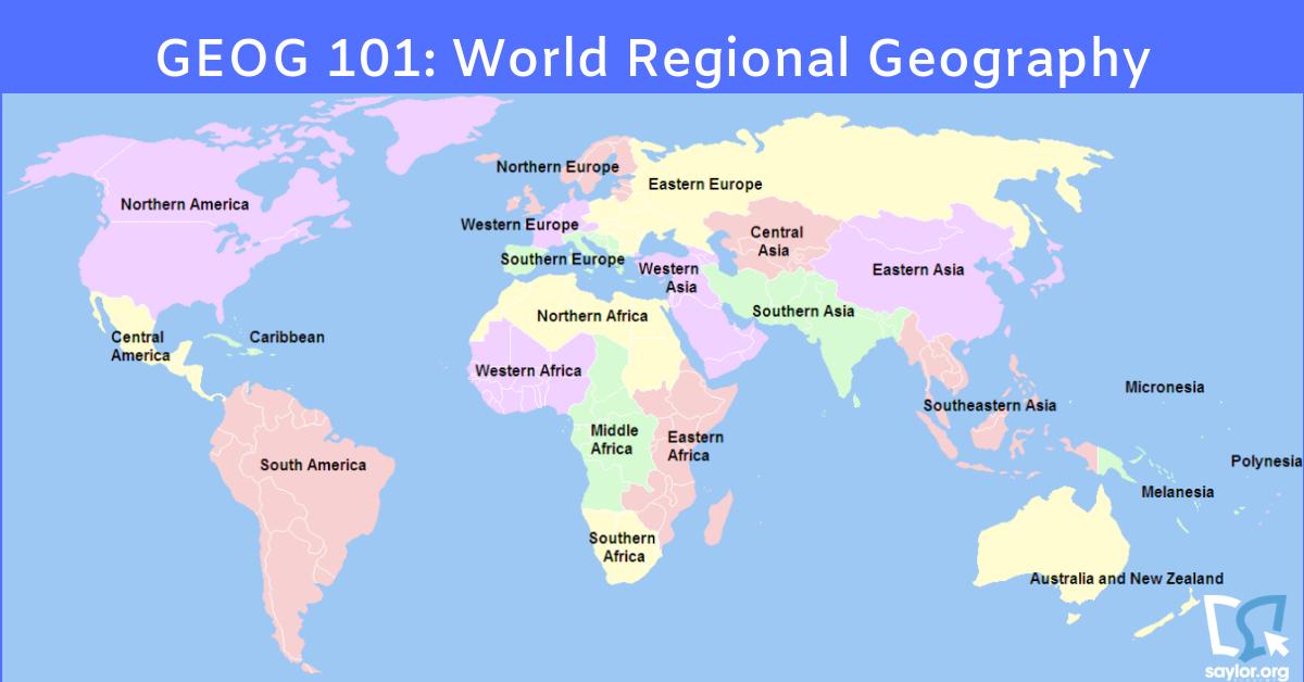 world regional map