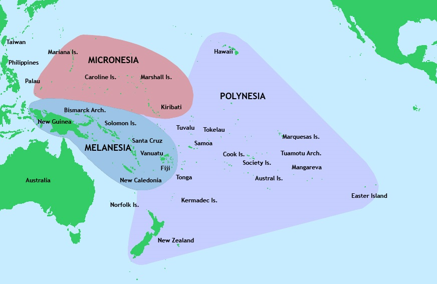 map of the pacific