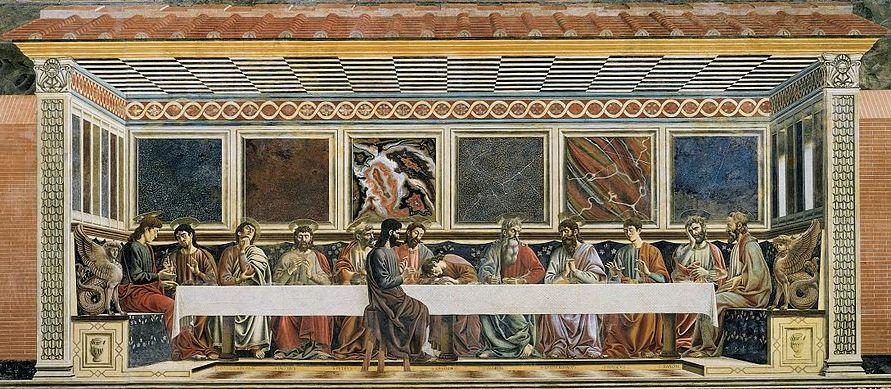 Andrea del Castagno, Last Supper, 1447, tempera on plaster (Sant'Apollonia, Florence)