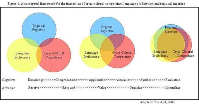 A conceptual framework for the interaction of cross-cultural competence, language proficiency, and regional expertise