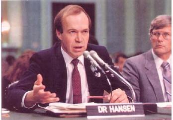 Image of James Hansen testifying before Congress