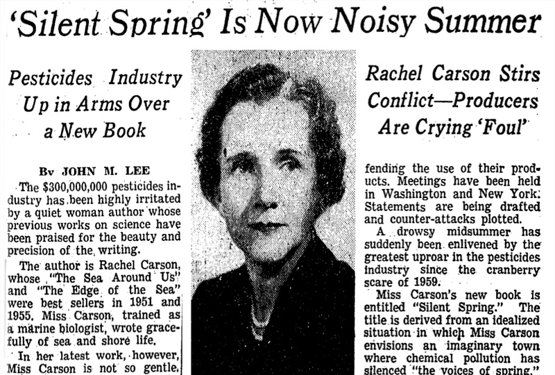 Image of an article featuring Silent Spring