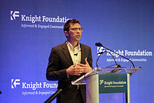 Photo of Jonah_Lehrer Speakign at the Knight Foundation