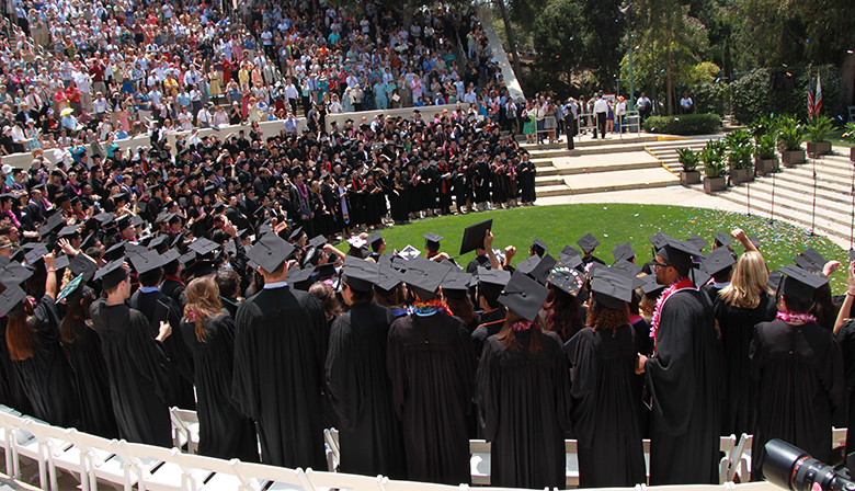 This is an image of a graduation ceremony.
