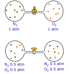 images showing diffusion of gas molecules
