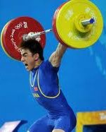 Photo of a weight lifter