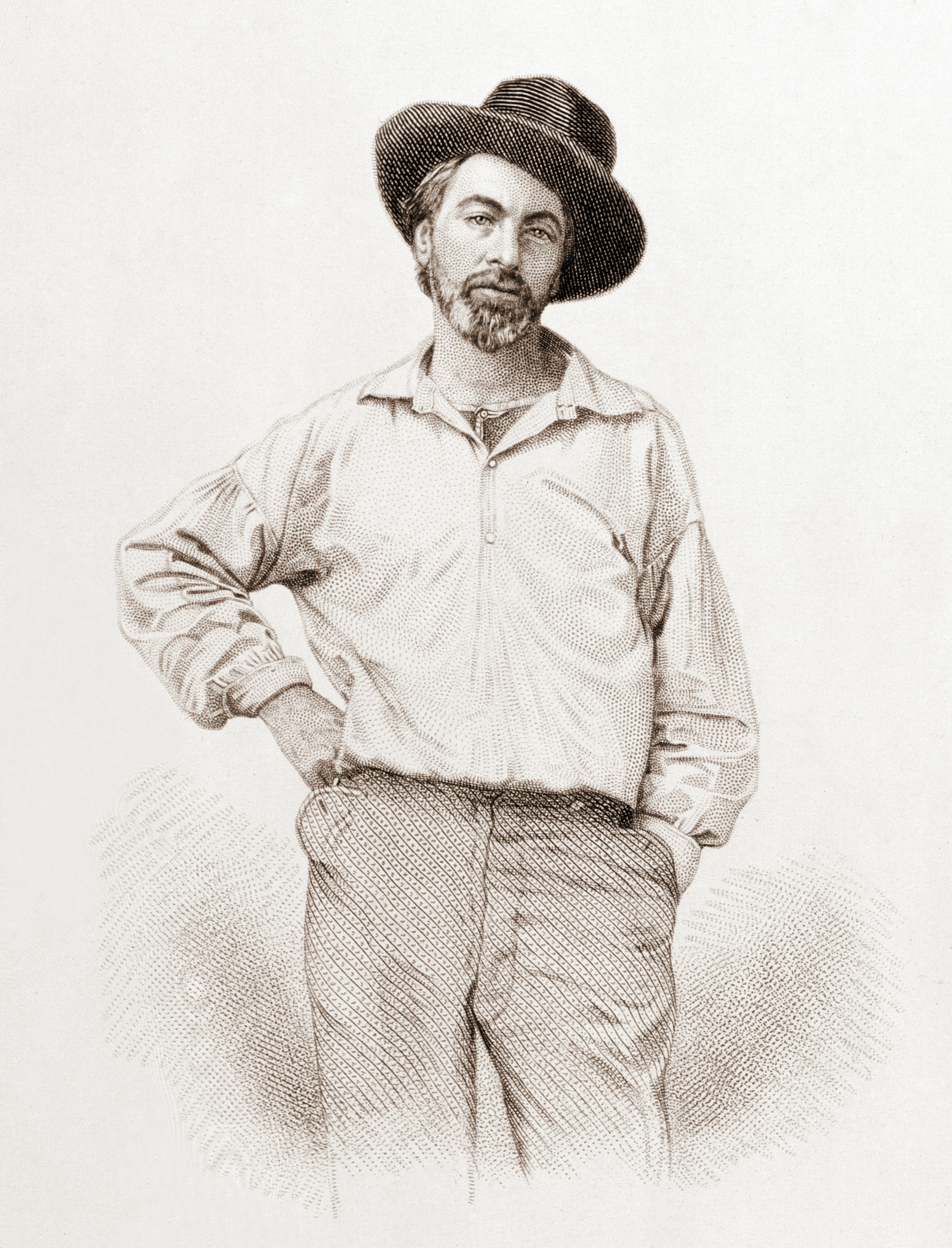 Image of Walt Whitman from 1855 Edition of Leaves of Grass