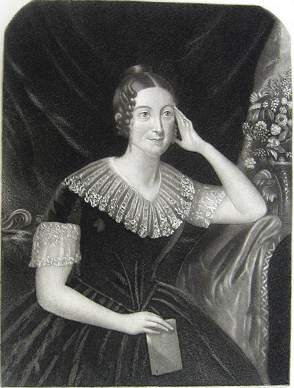 Print of Lydia Huntley Sigourney
