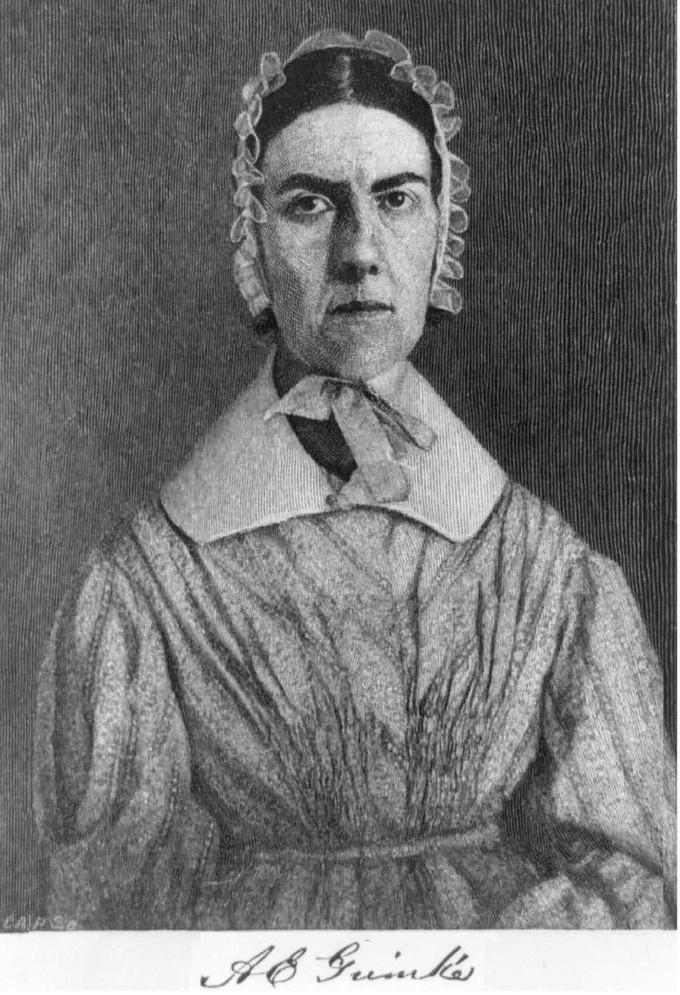 Portrait of Angelina Emily Grimke