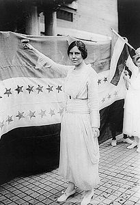 Alice Paul toasting equal voting rights