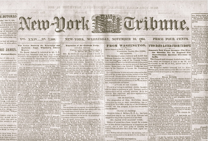 New York Tribune front page