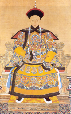 Imperial Portrait of Emperor Xianfeng, China, c. 1855. Palace Museum, Bejing