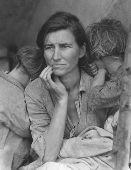 Dorthea Lange, Migrant Mother, 1936. Photograph. Farm Security Administration collection, U.S. Library of Congress.