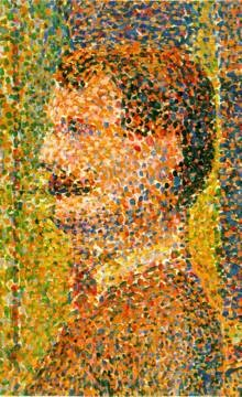 Georges Seurat, La Parade de Cirque, detail, 1887-89. The Metropolitan Museum of Art, New York.