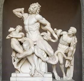 Laocoon Group, Roman copy of Greek original, Vatican Museum, Rome.