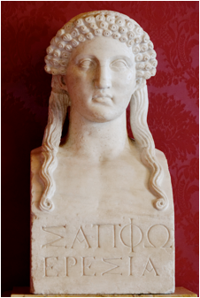 Roman bust of Sappho. Capitoline Museum, Rome.