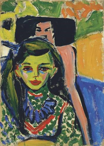 Ernst Ludwig Kirchner, Franzi In Front of A Carved Chair, 1910, oil on canvas, Thyssen-Bornemisza Museum, Madrid
