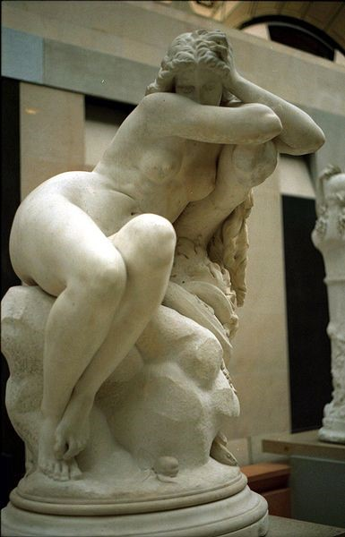 Eugene Delaplanche, Eve after the Fall, 1869. Marble. Musee d'Orsay, Paris.