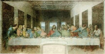 Leonardo da Vinci, 'The Last Supper,' 1498. Fresco.Santa Maria della Grazie.