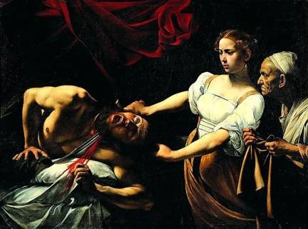 Caravaggio, Guiditta Decapitates Oloferne, 1598, oil on canvas. National Gallery of Italian Art, Rome