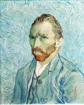 Self Portrait, Vincent van Gogh, 1889, oil on canvas. Musee d'Orsay, Paris.