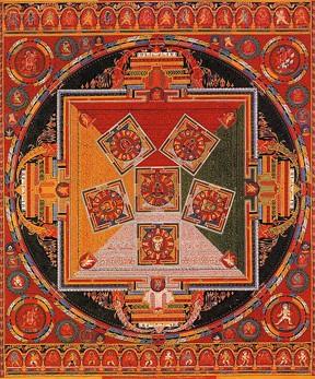 Tibetan Mandala of the Six Chakravartins, c. 1429-46. Central Tibet (Ngor Monestary).
