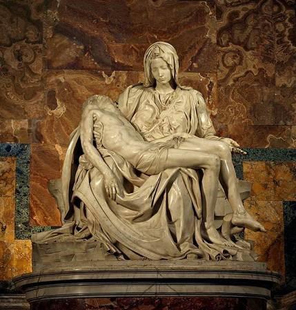 Michelangelo, 'Pieta', 1499, marble. St. Peter's Basilica, Rome