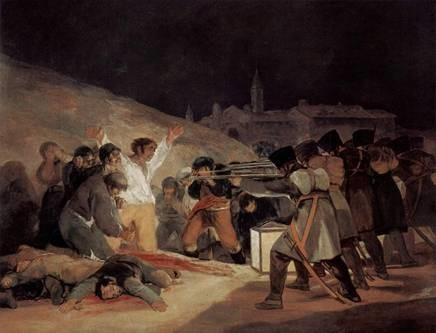 Francisco de Goya y Lucientes, 'The Third of May, 1808', 1814. Oil on canvas. The Prado Museum, Madrid