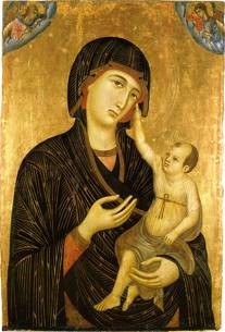 Duccio, 'The Crevole Madonna', c. 1280. Tempera on board. Museo dell'Opera del Duomo, Siena, Italy