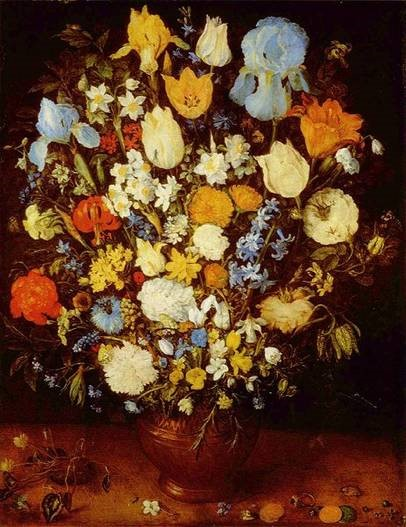 Jan Brueghel the Elder, 'Flowers in a Vase', 1599. Oil on wood. Kunsthistorisches Museum, Wien, Germany.