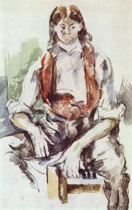 Paul Cezanne, Boy in a Red Vest, c. 1890. Watercolor on paper.