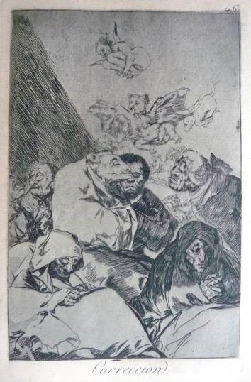 Francisco Goya, 'Correccion', 1799. Etching on paper