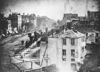 Louis Daguerre, Boulevard du Temps, 1838.