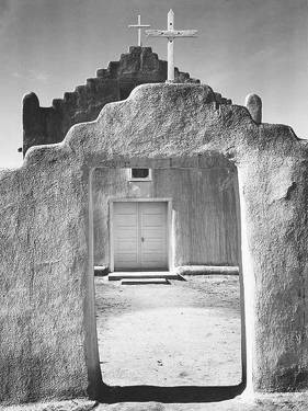 Ansel Adams, 'Taos Pueblo', 1942. Black and white photograph. Collection of the National Archives, Washington, D.C.