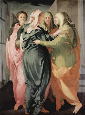 Jacopo Pontormo, 'The Visitation', 1528, oil on canvas. The Church of San Francesco e Michele, Carmignano, Italy