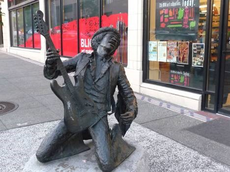 Daryl Smith, 'Jimi Hendrix', 1996, bronze. Broadway and Pine, Seattle