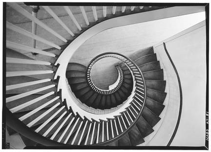 Shaker style staircase, Pleasant Hill, Kentucky. Photo by Jack Boucher, National Parks Service
