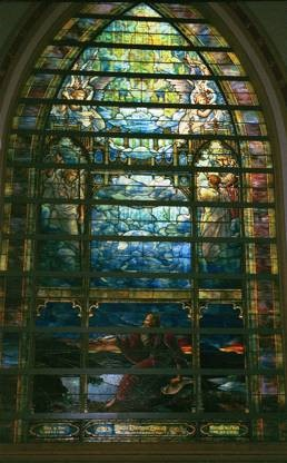 Louis Comfort Tiffany, 'The Holy City', stained glass window, Brown Memorial Presbyterian Church, Baltimore, Maryland. 1905