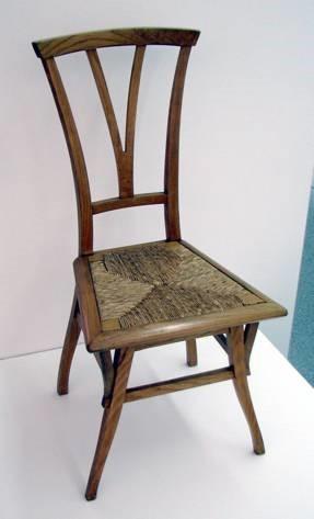 Henry van de Velde, Chair, 1895. Wood, woven fiber