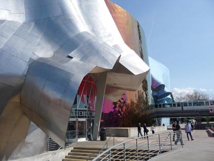 Chris Gildow, 'The Experience Music Project', Frank Gehry, 2000. Seattle Washington. Detail of the west façade with the monorail passing through