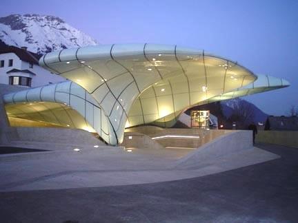 Hafelekar, 'Norpark Rail Station', Zaha Hadid, Innsbruck, Austria. 2004-2007