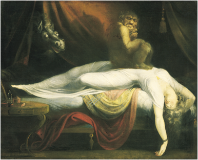 Henry Fuseli, 'The Nightmare', 1781. Oil on canvas. The Detroit Institute of Arts