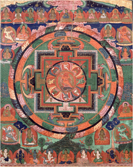 'Five Deity Mandala', Tibet, 17th century