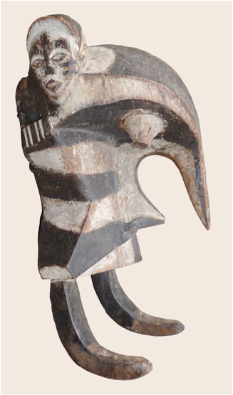 Chris Gildow, 'Ogbodo Enyi (Elephant Spirit)' mask, Igbo culture, Nigeria. Wood and pigment. Collection of Simon Ottenberg