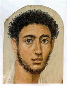 Roman, 'Faiyum Mummy Portrait', c.1st century CE. State Collections of Antiquities, Munich