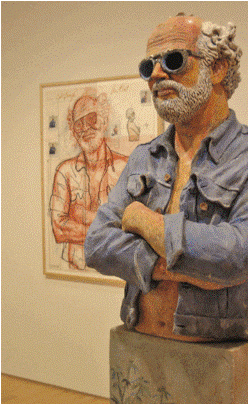 Robert Arneson, 'California Artist', 1982. Stoneware with glazes. San Francisco Museum of Modern Art. Image by Geoffrey A. Landis