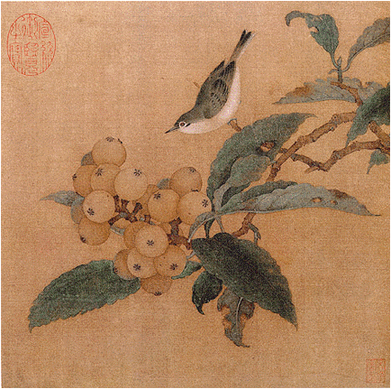'Loquats and Mountain Bird', Chinese, Song Dynasty (1127–1279). National Palace Museum, Beijing